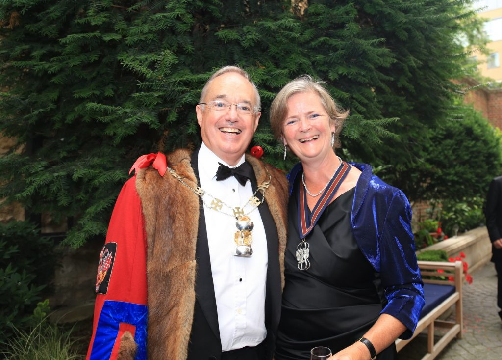 New and immediate past Master, Sally Bridgeland