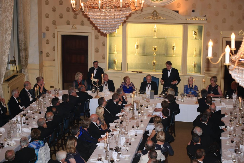 Installation dinner at Saddlers' Hall on 6 July 2017