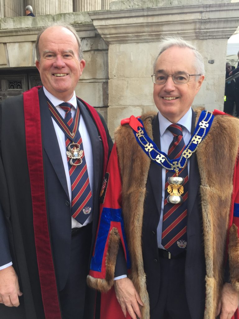Master and Clerk at the 2018 United Guilds Service