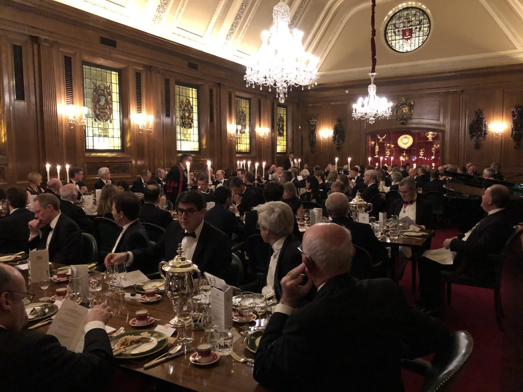 Dinner at Mercers' Hall - 29 Jan 2019