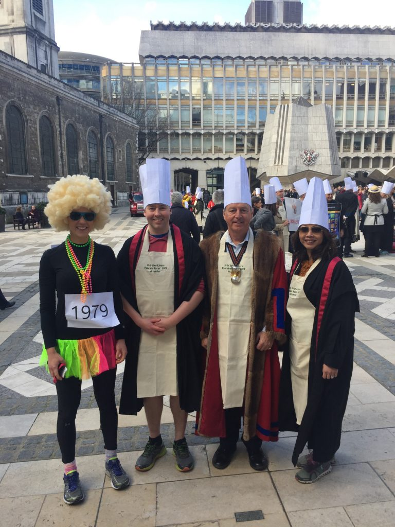 Pancake race team March 2019