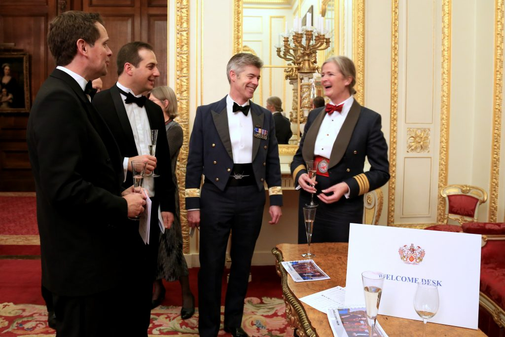new welcome desk at Winter Livery dinner 2020